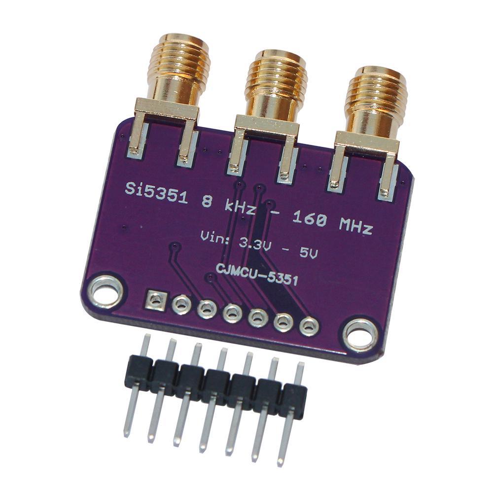 5351 Si5351A Si5351 Clock Signal Generator Breakout Board for Arduino IDE I2C Controller SMA Connector 3.3V LDO Regulator