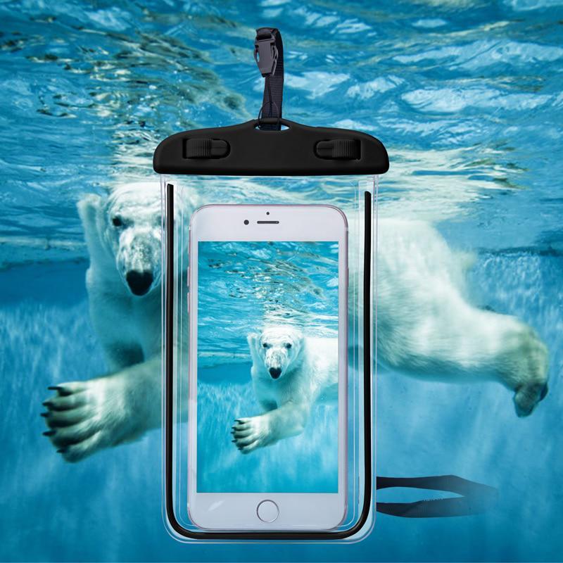 Универсальный водонепроницаемый телефон случаев для iPhone 7 6S 6 Дайвинг подводного мешок Обложка чехол