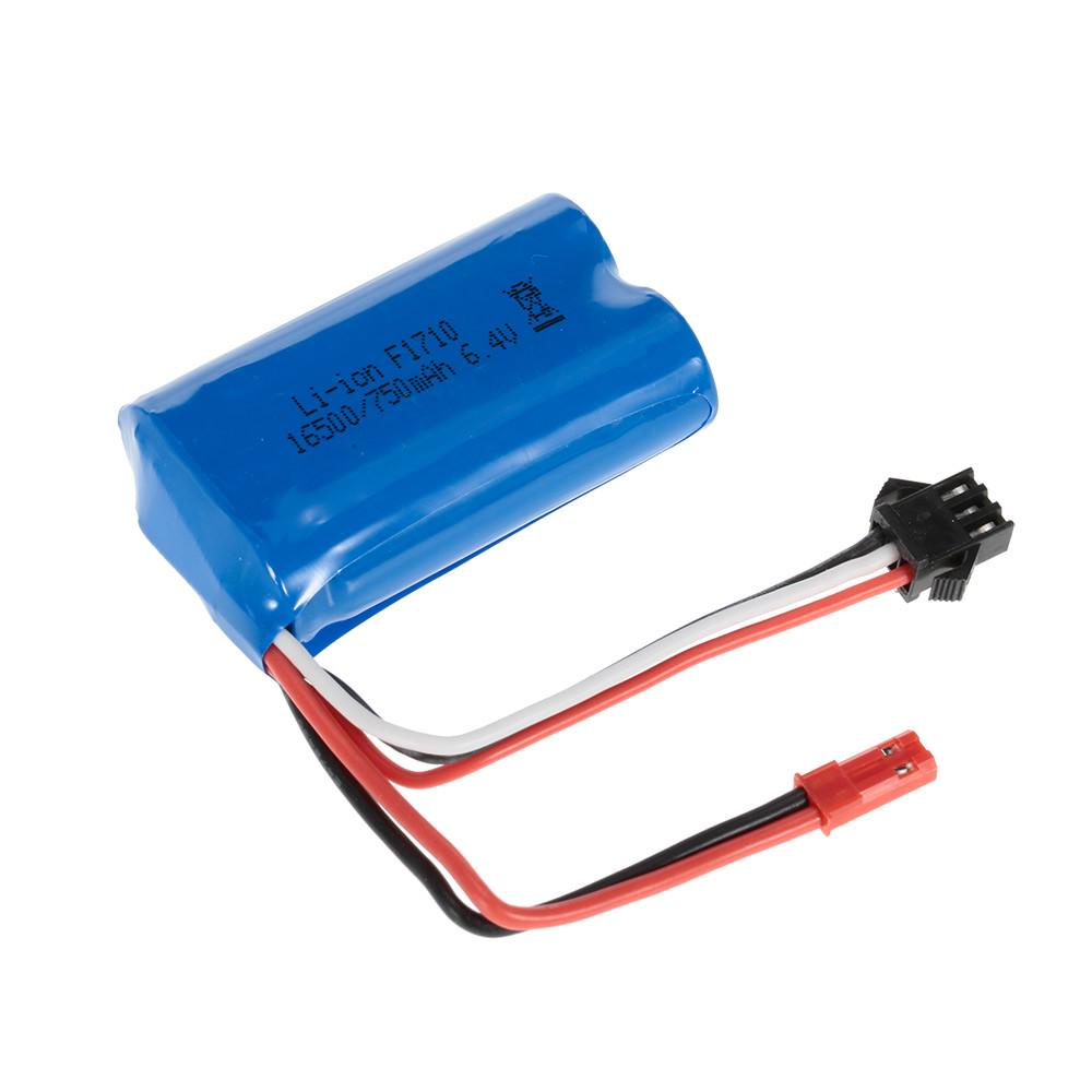 6.4 V 750mAh литий-ионная аккумуляторная батарея для WLtoys A959-А A979-A RC багги автомобиля – купить по низким ценам в интернет-магазине Joom