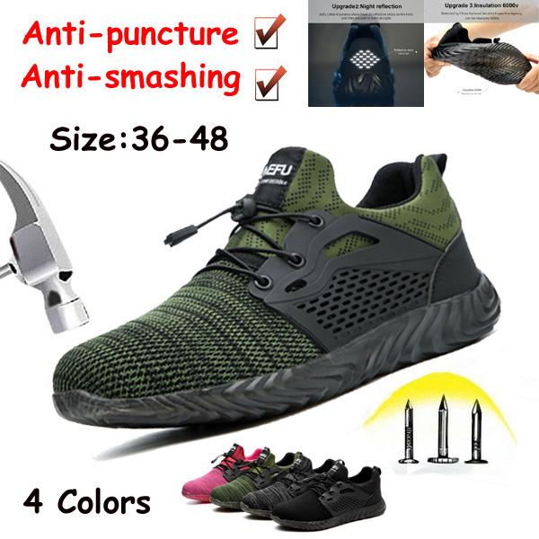 Work Shoes Breathable Steel Toe Safety
