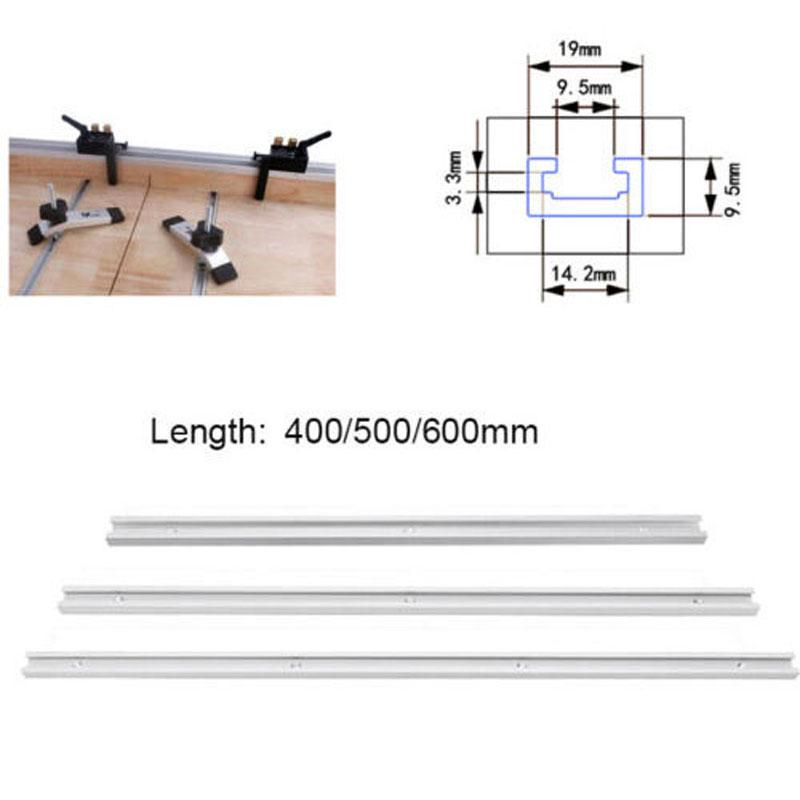 T-Track Miter Jig Aluminum T-Track T-Slot Miter Track Jig Tools for Woodworking Router Table 300//500//600mm,for T Screw 600MM Quick Acting Clamp.