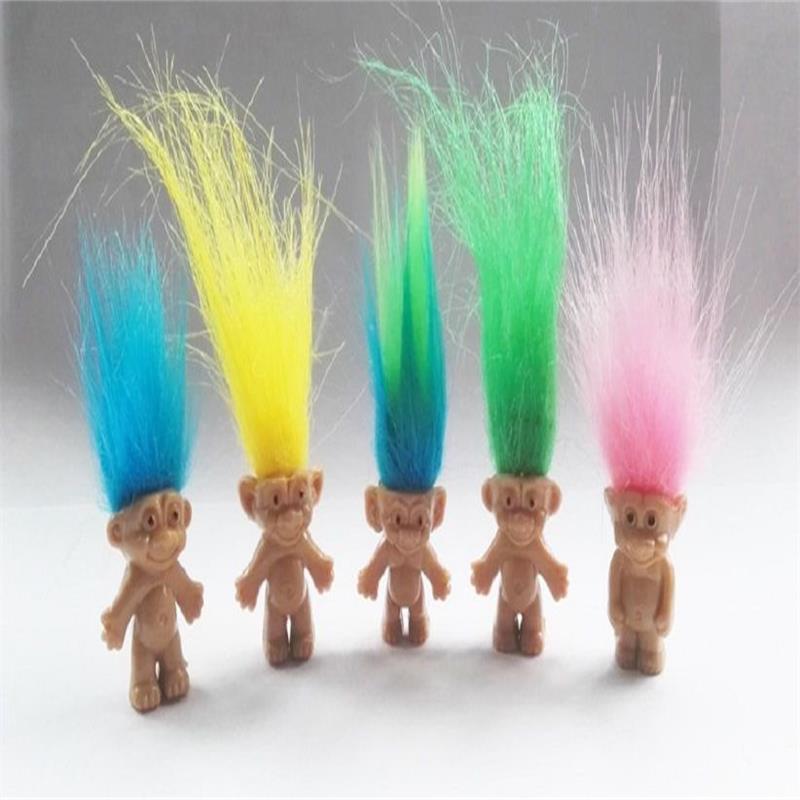 "10Pcs//lot Random vintage trolls Lucky Doll Mini Figures Toy 1/"" cake toppers"