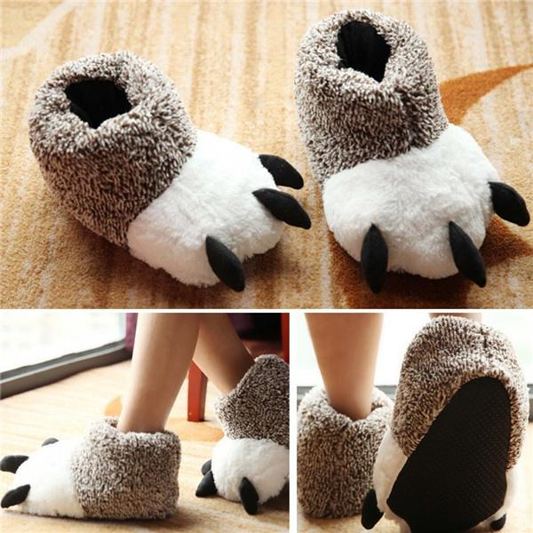 0d723194eaa Lovely Animal Monster Feet Slippers Claw Bear Paw Plush Home Shoes Unisex-buy  at a low prices on Joom e-commerce platform