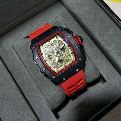 2021 New Men's Three-pin Quartz Watch Sport Silica Cask Watch