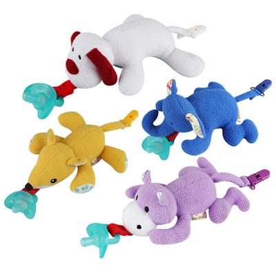 Animals Baby Nipple Toys Pacifier Lovely Stuffed Clips Feeding Holder Plush Hang