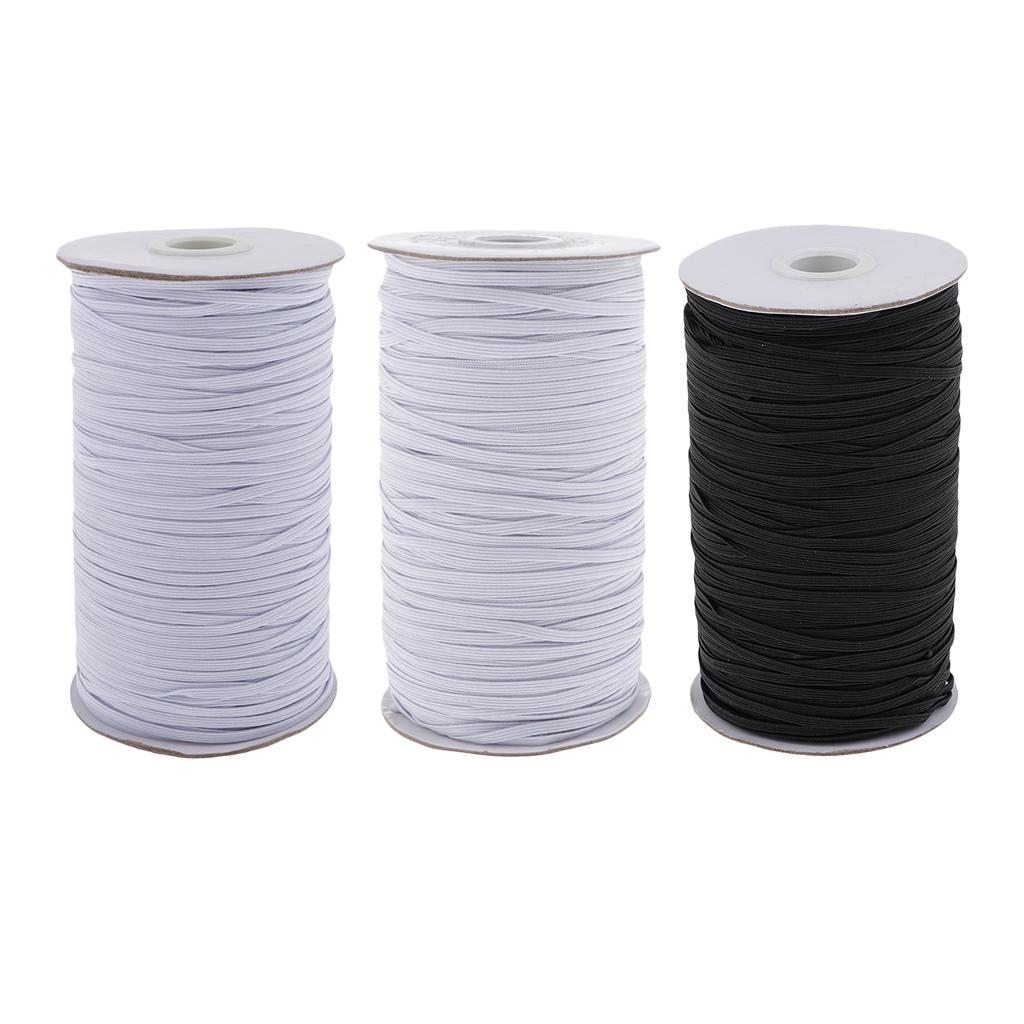 Rubber Elastic String Sewing Pants Trousers Garments Band Rope White 2M Length