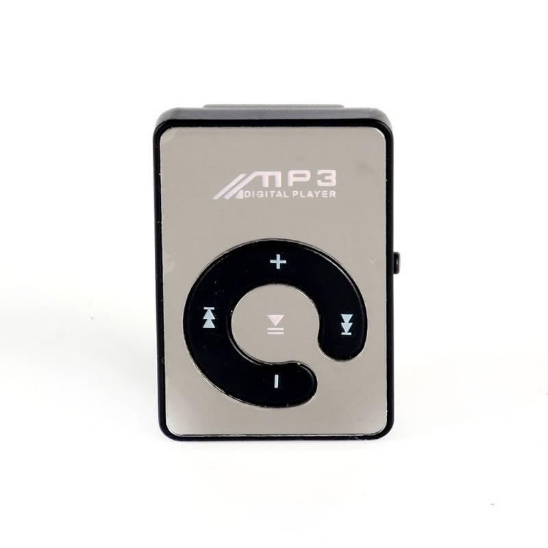 2018 Hot Mirror Clip USB Digital Mp3 Music Media Player Support 1-8GB SD TF Card