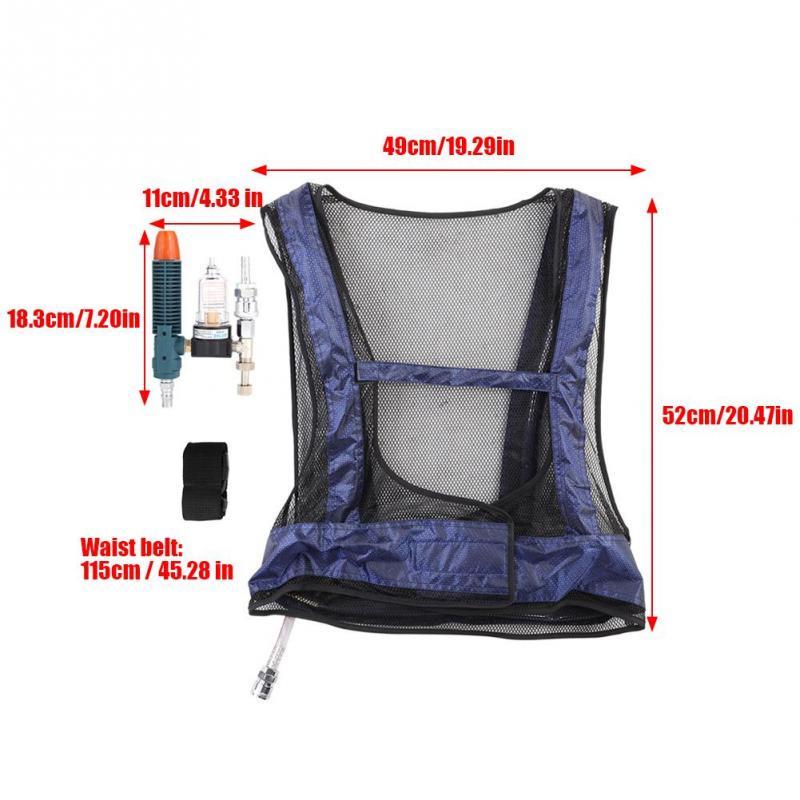 Welding Steel Air Compressed Cooling Vest Vortex Tube Air Conditioner Waistcoat