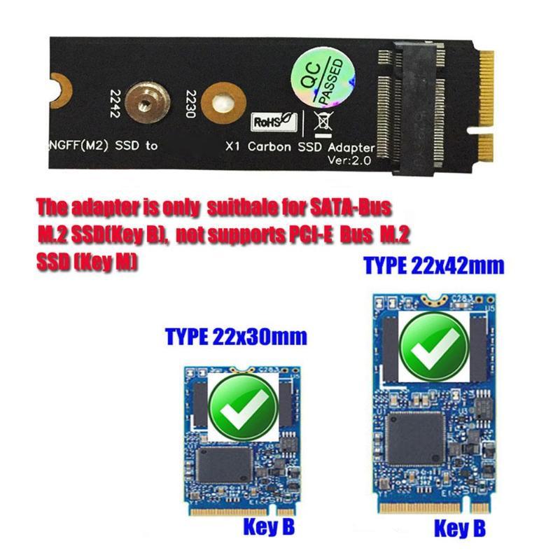 "X1 Carbon 20+6 Pin 26 Pin SSD to 2.5/"" SATA Adapter Card for Lenovo Thinkpad new"