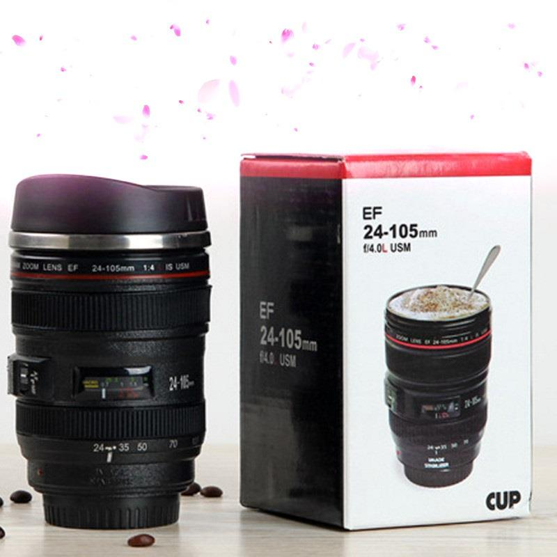 f28e172382 Cámara Digital Creative termo café lente taza té taza de acero ...