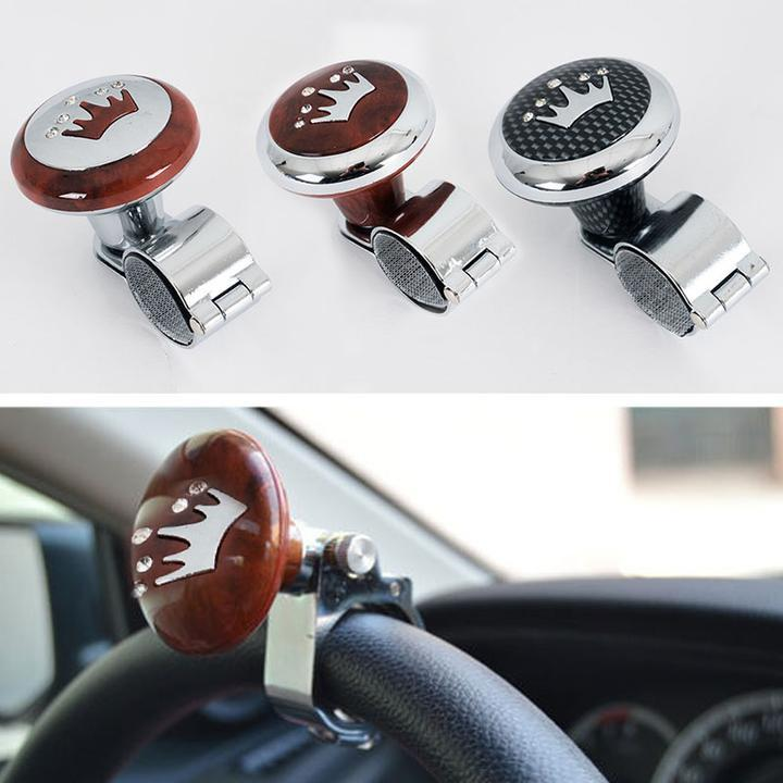 Hot Sale Car Auto Black Control Handle Steering Wheel Handle Assist Spinner Knob Booster Automobiles & Motorcycles