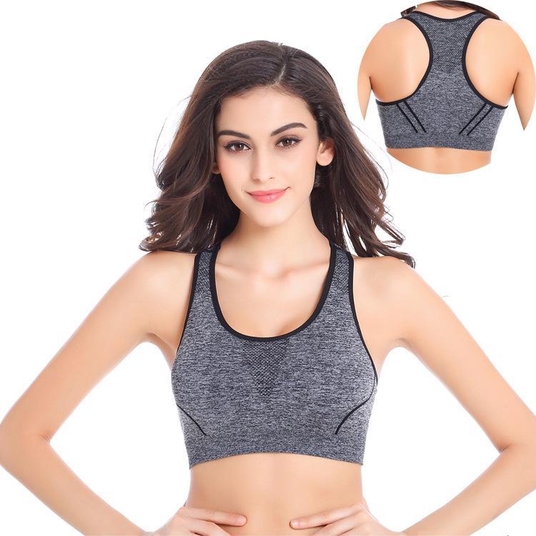 Women Yoga Fitness Workout Tank Top Seamless Wireless Padded Sports Bra Jogging