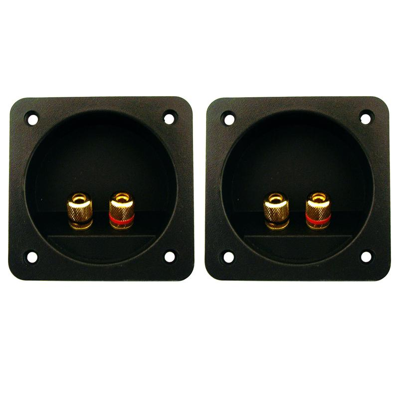 2x Terminal Round Cup Connector Parts Express Spring Clip Double Speaker Box