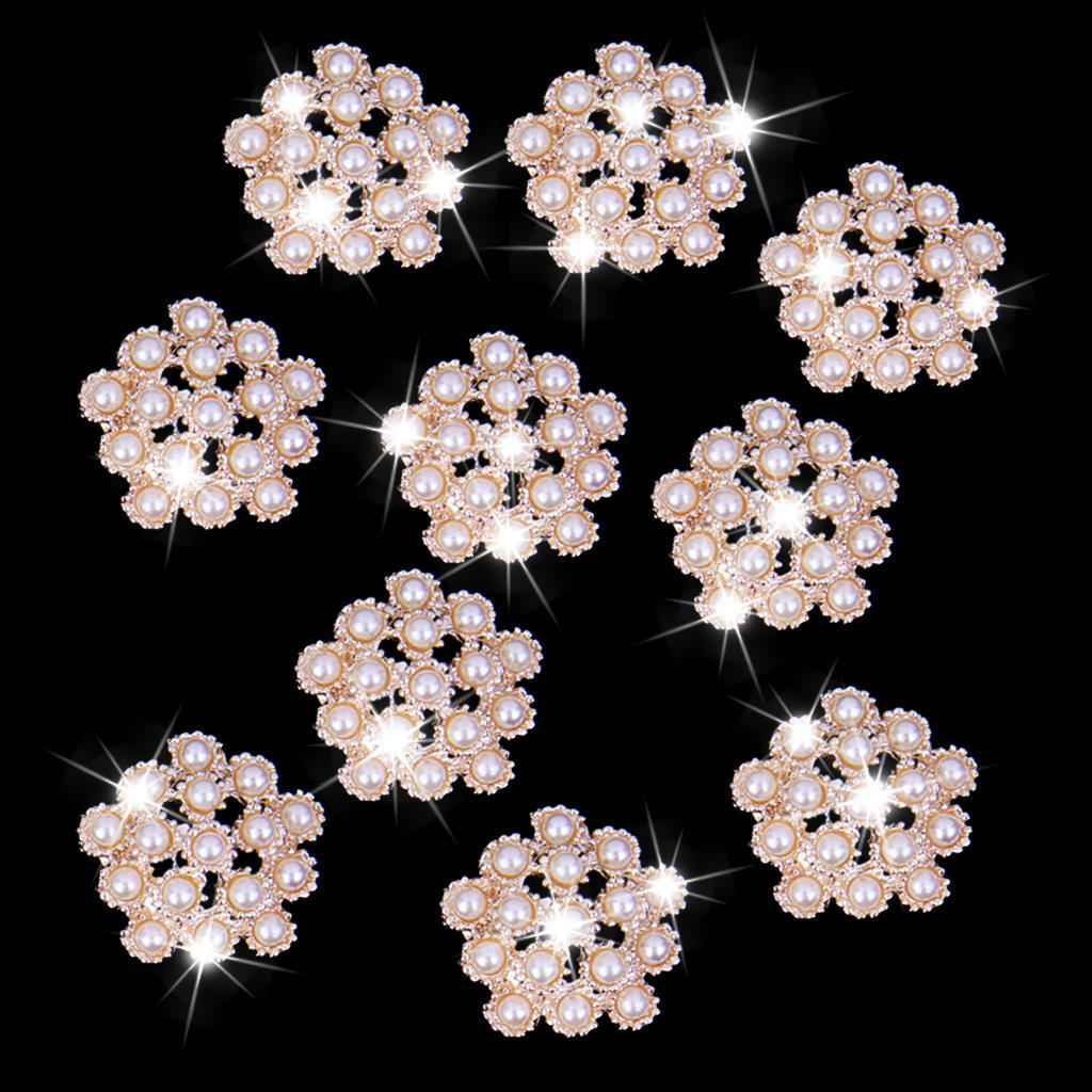 20pcs Flower Bead Embellishments Jewelry Making Findings Clothes Decor 20mm