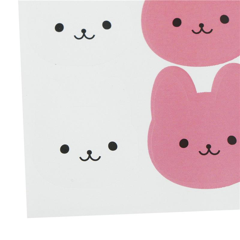120Pcs DIY Seal Sticker Tricolor Bunny Rabbit Label Stickers For Gift,PackaginCW
