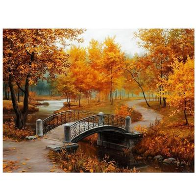 Romantic love Autumn landscape-DIY Painting By Numbers kit Digital Oil Painting On Canvas Unique Gifts 16x20 inch Frameless