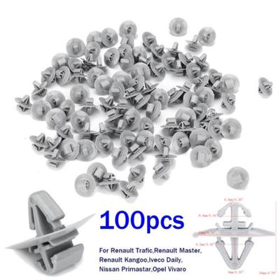Lower Protection Door Trim 10x Clips for Renault Trafic Traffic Side Moulding