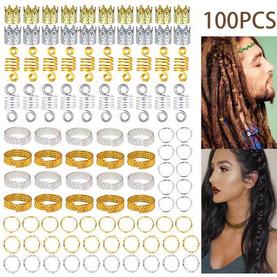 20 Pcs Metal Hair Braid Dreadlock Beads Cuffs Clips Braid Spiral Jewelry Decor Buy At A Low Prices On Joom E Commerce Platform