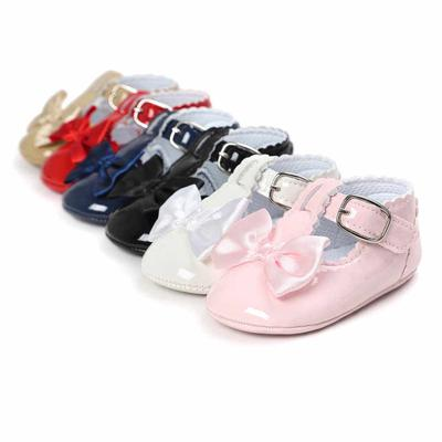New Arrival PU Leather Baby Shoes Baby Girl Princess Crib Shoes Color Solid Cute First Walkers Kids