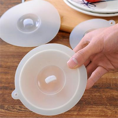 Silicone Suction Lids Cover Cup Mug Leakproof Cap Sealed Reusable Food Stretch