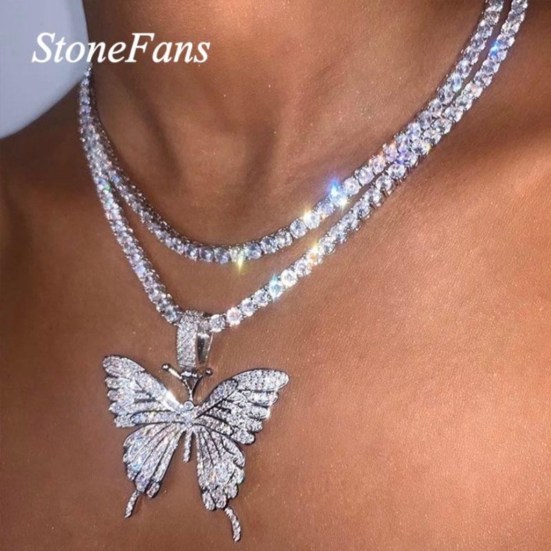 Butterfly 3 chain necklace