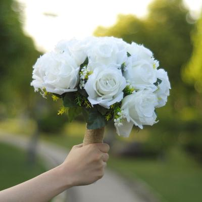 Nunta Buchet Mireasa Bridesmaid Flori Artificiale De Trandafir