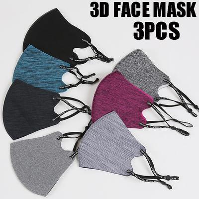 Washable Face Mask Men Women Mouth Mask Adult Children Adjustable Ear Loop Mask Cloth Christmas Masks Reusable Outdoor Winter Face Mask Masque