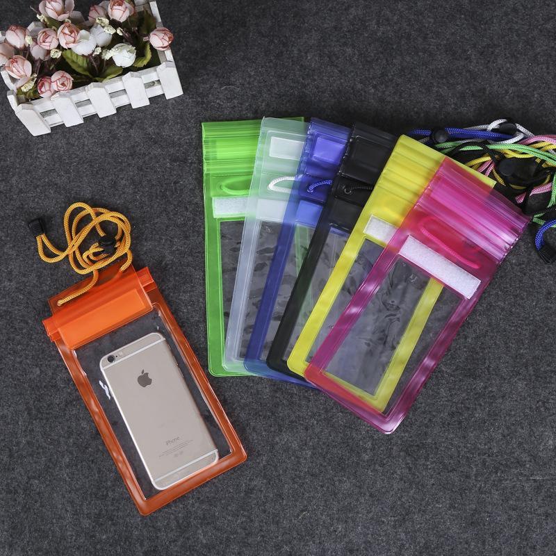 Пластик ПВХ водонепроницаемый мешок случае для сотовый телефон путешествия пляж мешочек фото