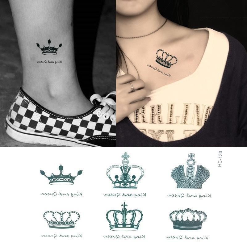 Tatuaż Wodoodporne Naklejki Kobiety Mężczyźni Korony