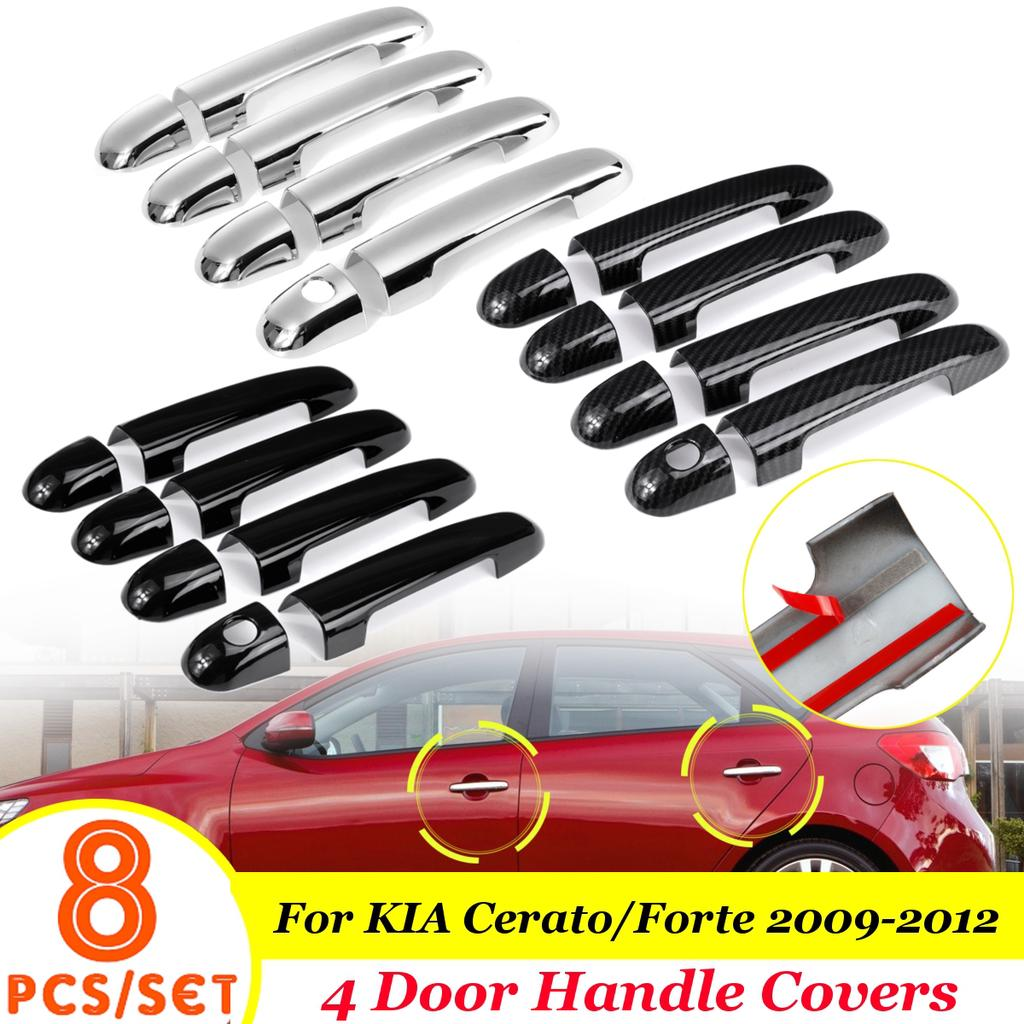 Car accessories For KIA Ceed Ceed 2006 2007 2008 2009 2010 2011 2012 New Chrome Car Door Handle Cover Trim Sticker Car Styling Accesories Color : 1 KEYHOLE