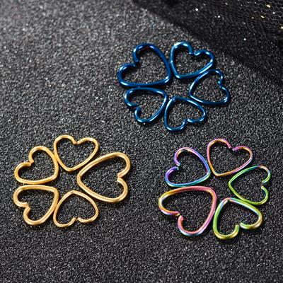 Women Fashion Heart Without Hole Piercing Jewelry Nose Rings Nose