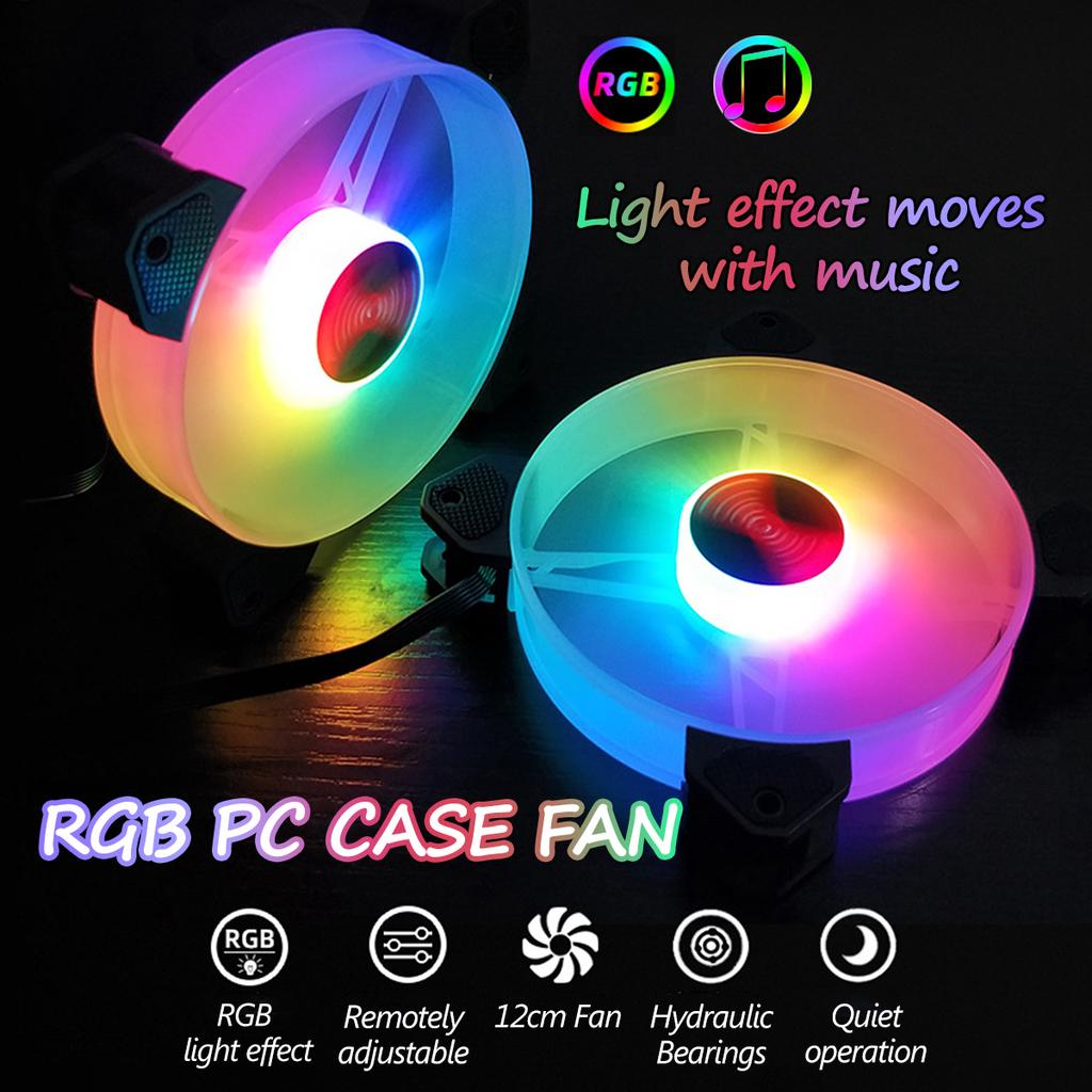 6PCS 12см 7 лезвия 6 Pin AURA SYNC RGB LED Управление ПК Чеп Вентилятор Тихий компьютер Дело Охлаждение Вентилятор – купить по низким ценам в интернет-магазине Joom