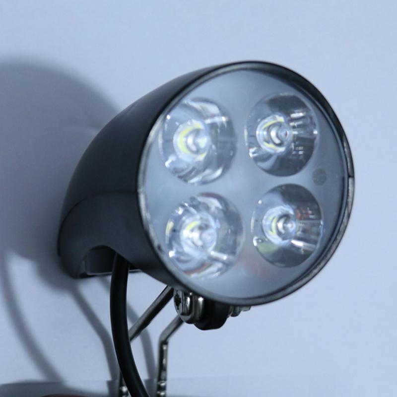 48V EBike LED Light Scooter Lamp Electric Bicycle Front Headlight With Horn 36V
