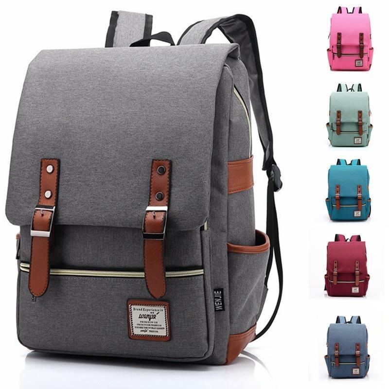 Mens//Women Vintage Style Canvas Backpack Bag Rucksack Travel Bag