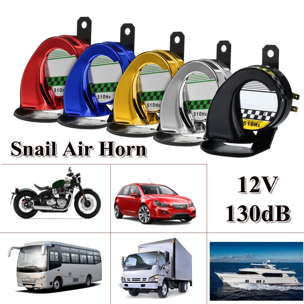 Car Horns Universal 12V 110db Snail Air Horns Siren Loud for Car Truck Motorbike Automobiles Lorry Boat Train,D