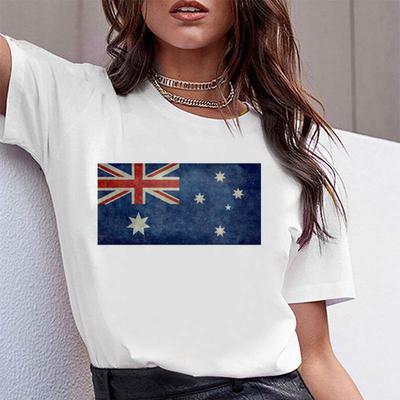 Women's Plus Size T shirt Summer Fashion White Print Arizona