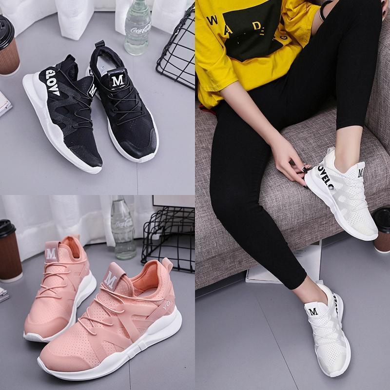 春季新款女士运动休闲鞋韩版透气网面跑步鞋潮鞋百搭时尚