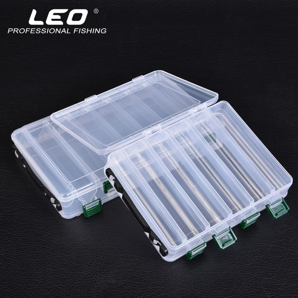 14 Compartments Fishing Lure Box Plastic Fishing Tackle Hook Bait Storage Case