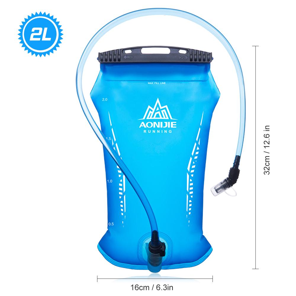 AONIJIE Outdoor Sport Hydration Bladder Collapsible Folding TPU Water Reservoir Bag 2L 3L Riding Running Camping Bicycling Easy Store