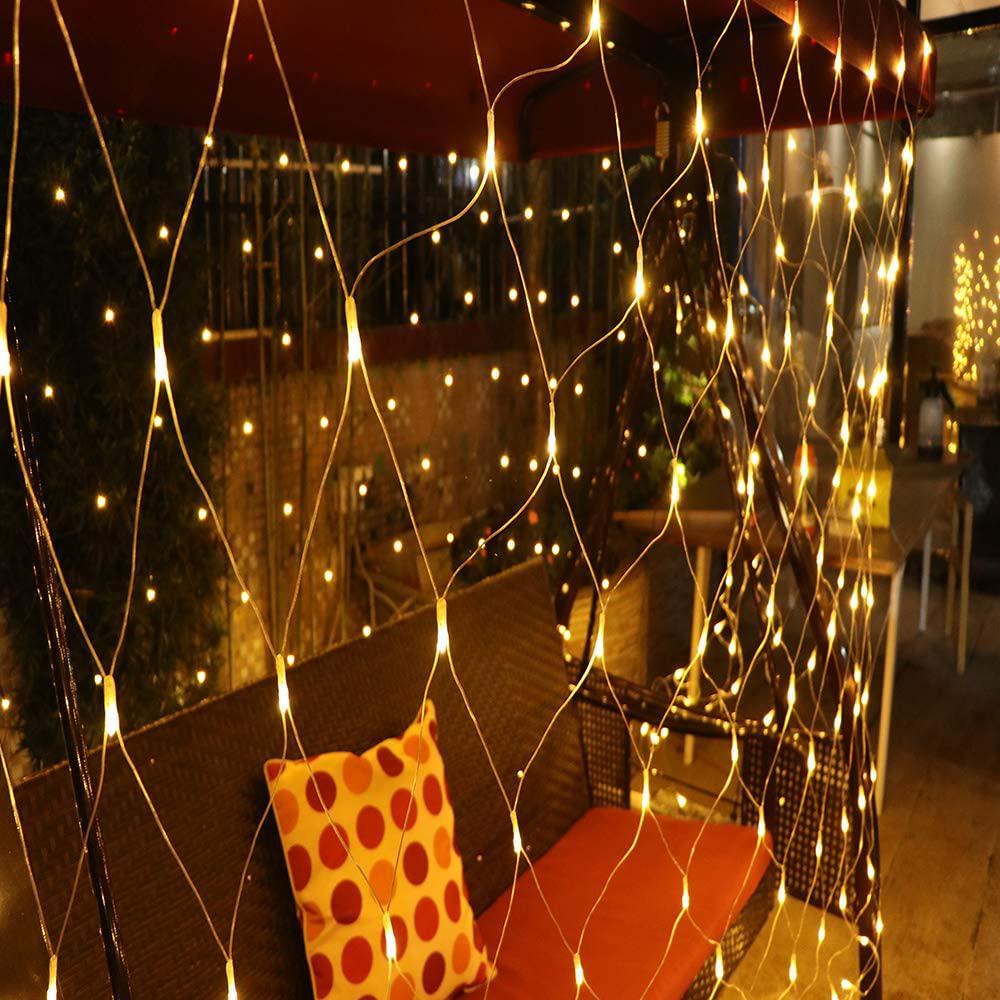 3M*2M Mesh LED Net Fairy String Curtain Lights Party Xmas Decor Outdoor Light EU