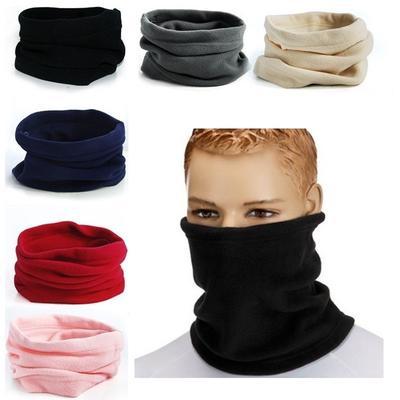 Ice Hockey Microfiber Neck Warmer Balaclavas Soft Fleece Headwear Face Scarf Mask For Winter
