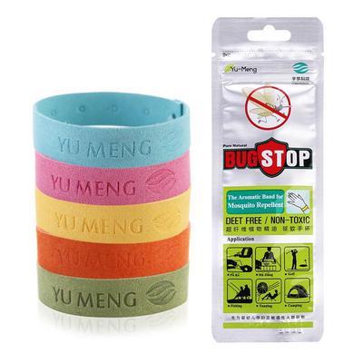 Outdoor Indoor Kid Adult Insect Mosquito Repellent Wrist Bracelets Elastic Ring