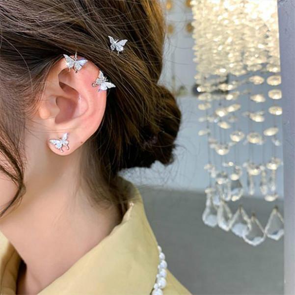 Butterfly clip on earrings