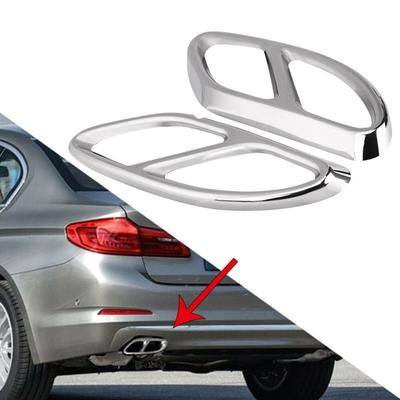 Set Chrome Exhaust Pipe Cover Tip for Mercedes W212 S212 GLK X204