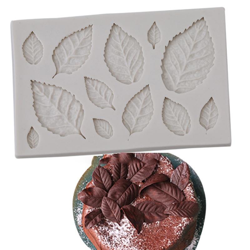 Лист формы силиконовые давления плесень листья торт украшение помадной Cookie инструменты 3D продовольственной класса плесень фото