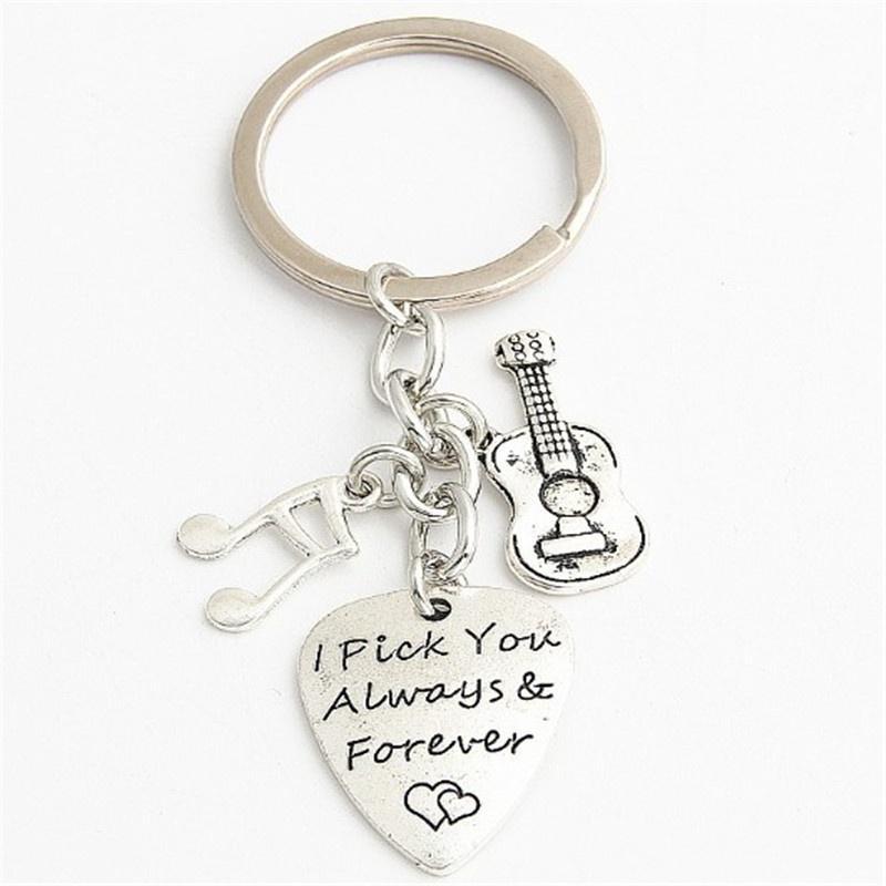 musical key rings guitar picks handmade key rings handmade guitar picks Key rings gifts for Dad Christmas key rings gifts for guys
