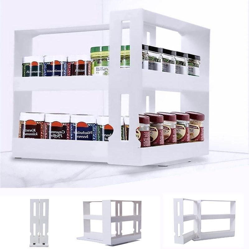 Multifunctional Rotating Spice Rack, Spice Racks For Kitchen Cabinets