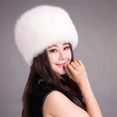 5cbbfb83b6de07 Ladies Warm Furry Faux Rabbit Fur Hat Russian Women Winter Cossack Cap