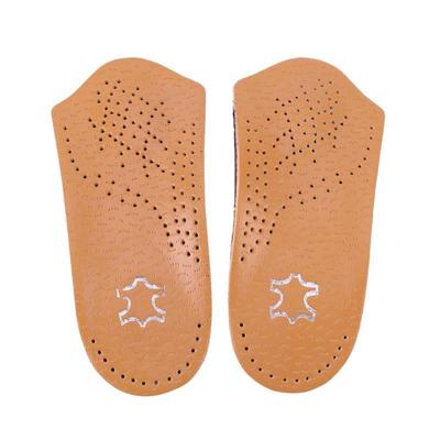 Women Men Leather Orthotics Half