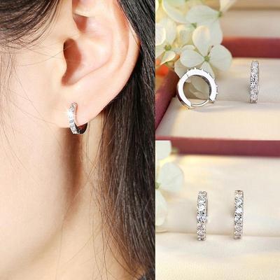 b4c23bb84251 Cristal elegante oído Stud aretes boda joyería - comprar a precios ...